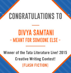 Second Winner of TATA Literature Live! 2015's Flash Fiction Contest