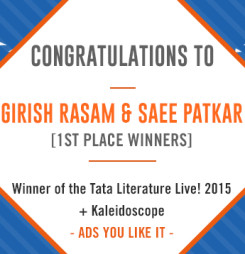 TATA LitLive2015 + Kaleidoscope : Ads You Like It 1st Place Winner