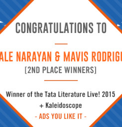 TATA LitLive2015 + Kaleidoscope : Ads You Like It 2nd Place Winner