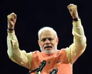 Prime Minister Modi at Madison Square Garden, New York in 2014 (Photo credits: DON EMMERT/AFP/Getty Images)