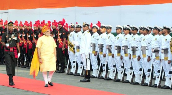 PM Narendra Modi in the Independence Day celebrations at the Red Fort | Source : @narendramodi